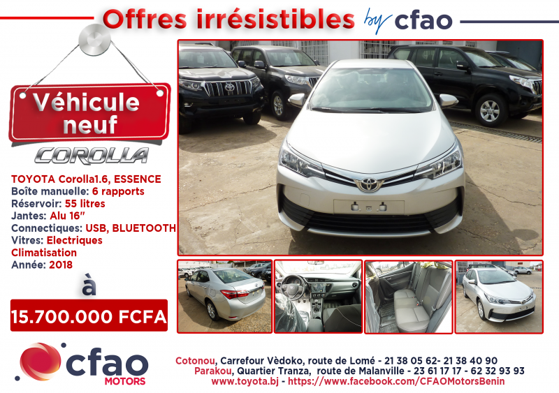 Offres irrésistibles by Cfao. TOYOTA COROLLA