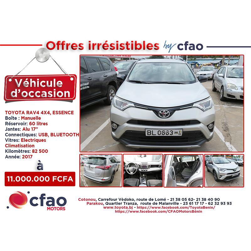 Offres irrésistibles by Cfao. TOYOTA RAV4